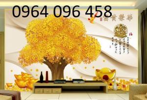 Tranh 3d cây tiền - 65VB