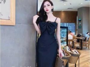 Đầm váy nữ body 2dây nơ fối lưới 2mau SC