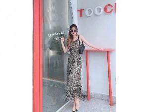 Đầm váy nữ maxi 2 dây voan 2lớp da beoSC
