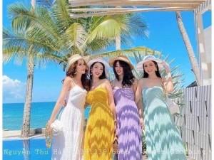 Đầm váy nữ maxi 2 dây xốp có 4 màu SC