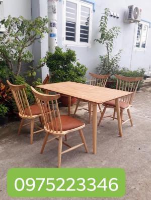 Bộ bàn ghế gỗ 7 xong có nệm giá bán tại xưởng