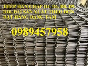 Lưới thép Phi 4 ô 100x100, D4 ô 150x150, 200x200, Phi4 ô 50x50 có sẵn