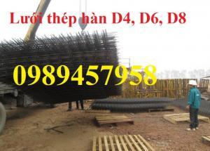 Lưới thép công trình phi 4 a 100x100, 150x150, 200x200, Lưới phi 5 a 200x200, Phi 6 a 150x150