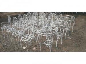 Bộ bàn ghế sắt mỹ nghệ cao cấp