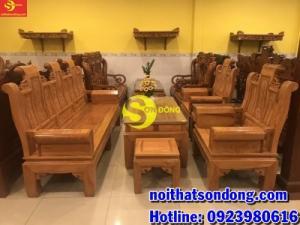 Bộ bàn ghế tần thuỷ hoàng tay hộp gỗ tự nhiên cao cấp