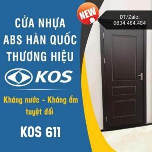 Cửa Nhựa ABS Hàn Quốc - Kiểu 611