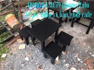 Bàn ghế cafe gỗ caosu giá rẻ