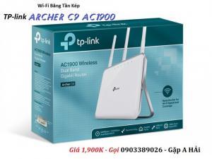 2020-07-31 09:37:08  2 Router Gigabit Wi-Fi Băng tần kép AC1900 Archer C9  Hỗ trợ chuẩn 802.11AC là thế hệ tiếp theo của Router Wi-Fi Router TP-link Archer C9 AC1900 phát Wi-Fi băng tần kép cực mạnh 1,900,000
