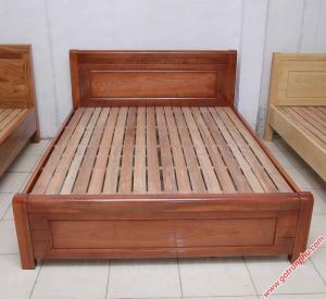 Giường ngủ gỗ xoan đào lá vạt thường (1m2 – 1m6 – 1m8*2m)