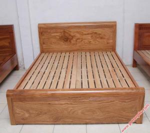 Giường ngủ gỗ hương xám vạt thường (1m6 – 1m8*2m)