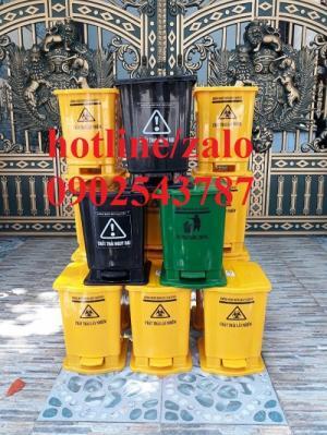 Thùng rác y tế 15 lít đạp chân ,thùng rác y tế 20 lít
