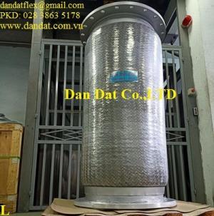 Khớp nối mềm inox công nghiệp, khớp nối mềm dẫn hóa chất, ống nối mềm dn150