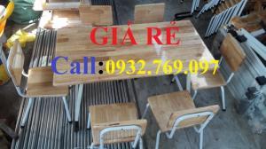 Bàn ghế gỗ su dành cho trường học