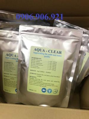 Men vi sinh AQUA CLEAR xử lí nước và đáy ao hiệu quả