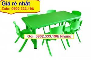 Nơi bán bàn ghế nhựa đúc mầm non giá rẽ
