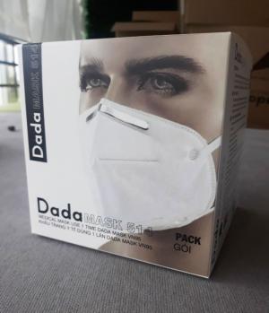 Khẩu trang y tế DaDa Mask VN95 514v – Hộp 5 cái màu trắng có van