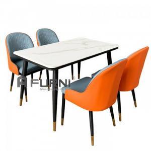 Bộ bàn ăn mặt đá 1m3 và 4 ghế Sala cho căn hộ hiện đại  HCM