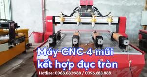 Máy CNC đục tranh kết hợp đục tượng | Máy CNC 1325-4 đầu