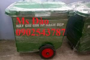 Xe  thu gom rác thải 660 lít ,thùng rác công cộng 660 lít giá rẻ