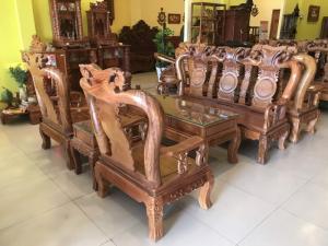 Bộ bàn ghế phòng khách tay 10 gỗ lim giá siêu rẻ