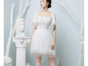 Đầm váy nữ ren trắng xòe tiểu thư Ms3679
