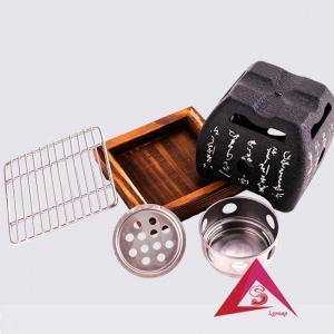 Bếp nướng gang hình vuông kiểu Nhật