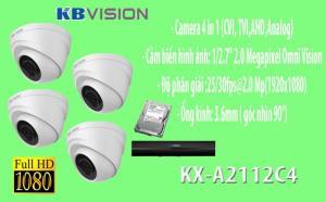 Gói 4 camera giá rẻ thương hiệu KBVISION