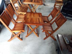 Ghế gổ bản lục giác làm tại xưởng sản xuất anh khoa 001