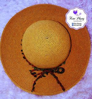 Mũ rộng vành handmade thời trang cho mẹ và bé