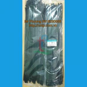 Dây rút nhựa - trắng, đen 8x500 HÀNG ĐỦ LY, ĐỦ SỢI (chiều ngang 7.6 mm)/100 s