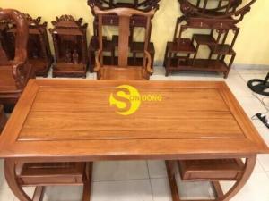 ????????Bộ bàn ghế làm việc khổng minh gỗ tự nhiên cao cấp 1.76M T1820