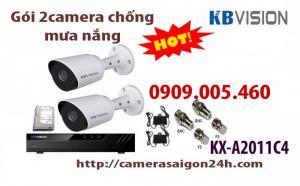 Gói 2 camera chống mưa nắng KX-A2011C4