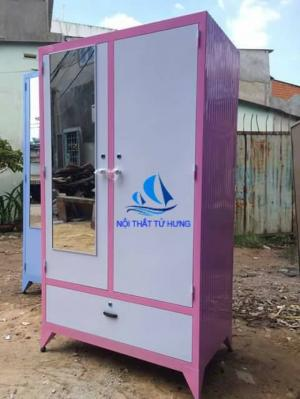 Tủ sắt quần áo sơn tĩnh điện 90x1m6