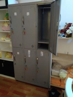Tủ Locker 6 hộc lớn son tĩnh điện thanh lý