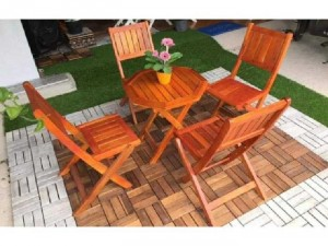 Ghế gỗ cafe mini