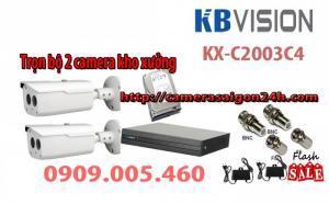 Bộ 2 camera quan sát KX-C2003C4