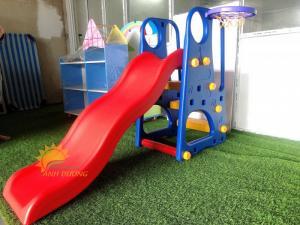 Đồ chơi cầu trượt nhựa trẻ em cho trường mầm non, công viên, khu vui chơi