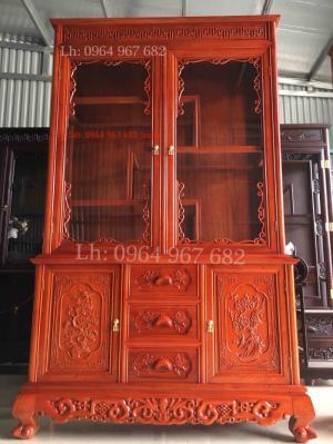 Tủ rượu và bày đồ gỗ hương lh 0964967682 có zalo