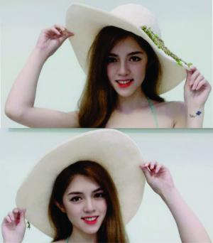 Mũ rộng vành handmade màu trắng cho nữ