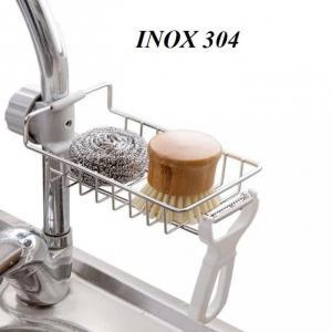 Kệ Để Đồ Rửa Chén Cạnh Vòi Rửa Đa Năng Bằng Inox Không Gỉ Tiện Lợi