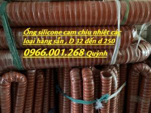 Ống silicone màu cam chịu nhiệt phi 100, phi 125, phi 150, phi 200