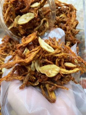 Hủ 500gr Heo sợi sấy tỏi thơm ngon - Food by Mama