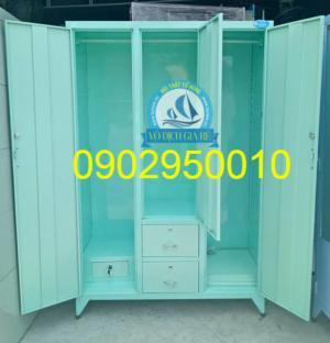 Tủ sắt đựng quần áo sơn tĩnh điện 1m2x1m8 3 cánh