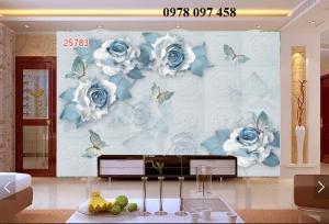 Tranh đẹp phòng khách - tranh gạch hoa 3d
