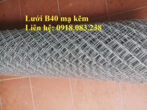 Cung cấp lưới B40 mạ kẽm khổ 10m/cuộn, 15m/cuộn