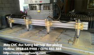 Máy CNC đục tượng 4D kết hợp đục tranh gỗ