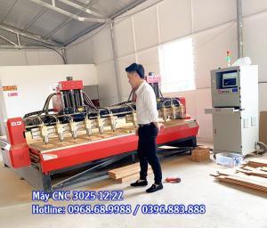 Máy chạm khắc gỗ 12 mũi năng suất cao | Máy đục gỗ vi tính CNC