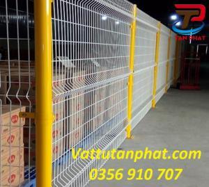 Hàng rào lưới thép bảo vệ, hàng rào kho, hàng rào mạ kẽm phi 5, phi4