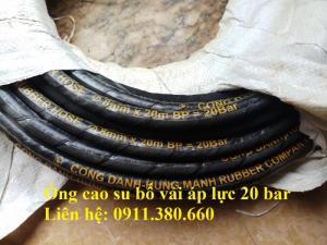 Cung cấp ống cao su bố vải áp lực 10 bar, 20 bar, hàng sẵn kho