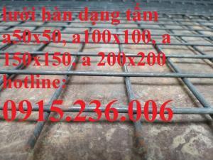 Lưới thép hàn đổ sàn, lưới thép hàn D3, D4, D5, D6, D8, D10, D12 giá tốt